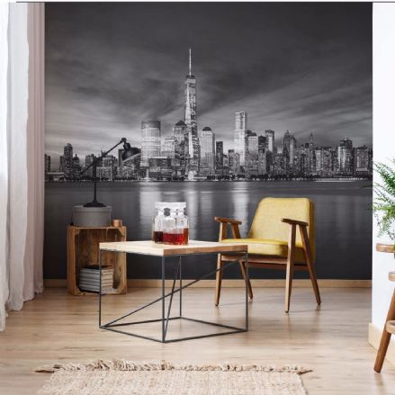 New York City Black non-woven wallpaper